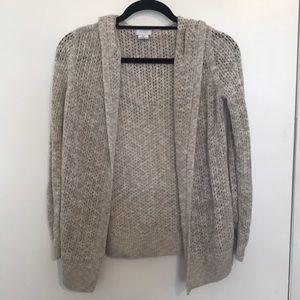 Sigird Olsen Open Weave Hooded Cardigan Sweater S